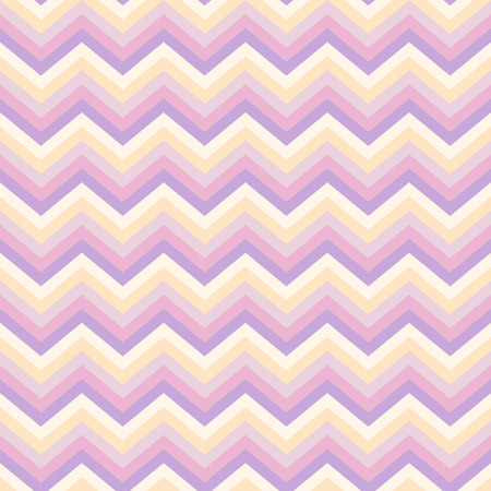 Seamless light abstract pattern. Geometric zig zag print composed of zigzag lines purple, pink, yellow colors