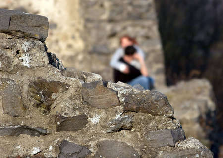 falling in love on ruins of ancient fortress