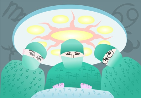 impression of the patient receiving general anesthesia before surgery
