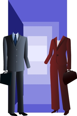 formal attire: dress code in business  life Illustration