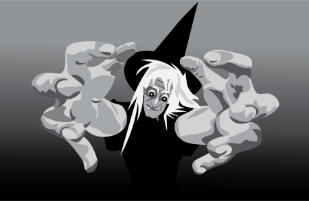 witch face: wicked witch gets you