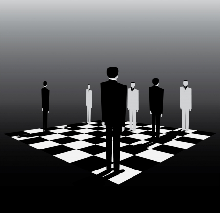 politics is like a game of chess Vector