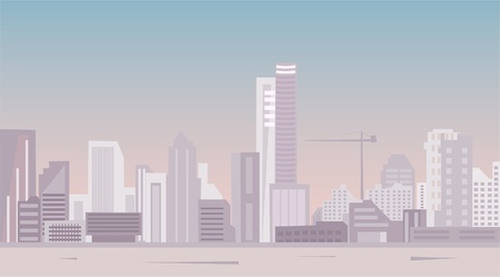 modern city panoramic view Illustration