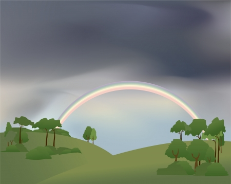 pasturage: rainbow Illustration