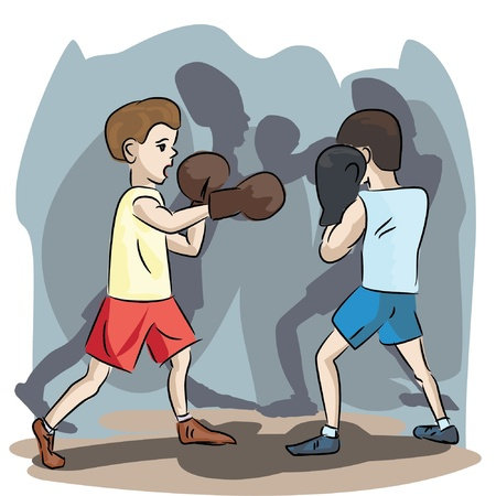 jab: young boxers at match