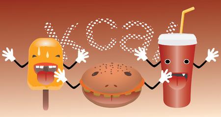junk food monsters cartoon