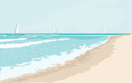 sea landscape in sunny day