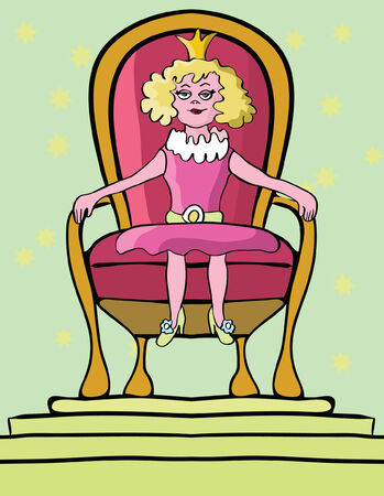 royal person: Illustration of self confidence by imaging yourself as a royal person sitting on the throne
