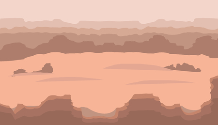 illustrating: vector image illustrating the beauty of rocky desert Illustration