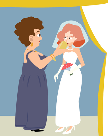 jewish wedding, bride given cup of wine by mother-in-law