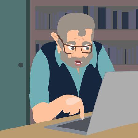 Internet-Trollvektor-Karikaturillustration