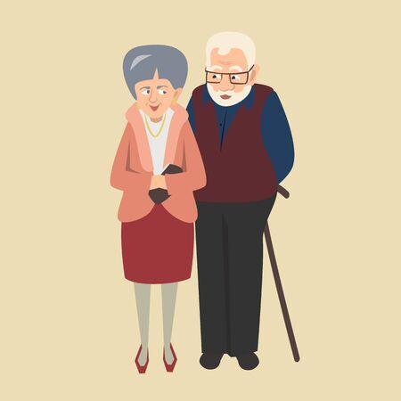 Alter Paar Vektor-Illustration Standard-Bild