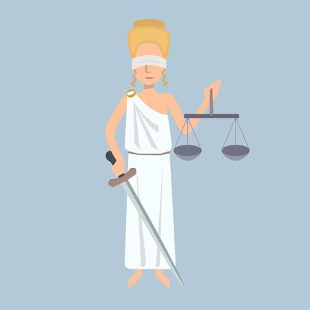 Lady Justice vector cartoon