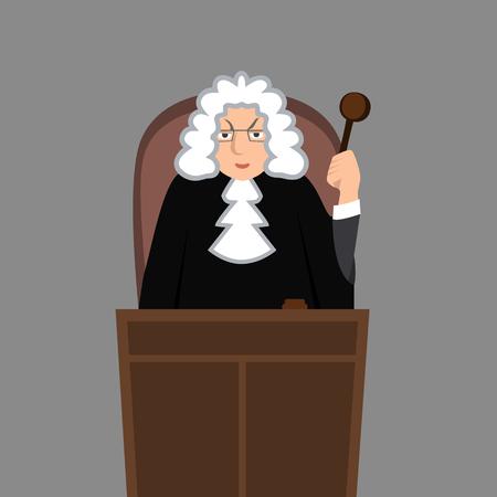 Judge in mantle vector cartoon illustration design character