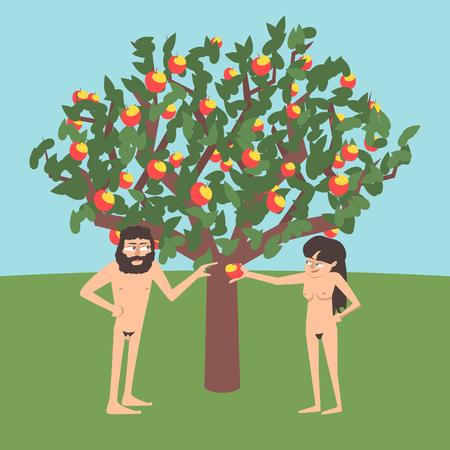 Adam and Eve near forbidden tree