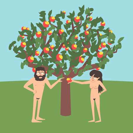 Adam and Eve near forbidden tree