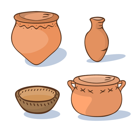 neolithic ceramics cartoon
