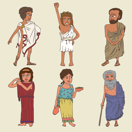 ancient greek characters set