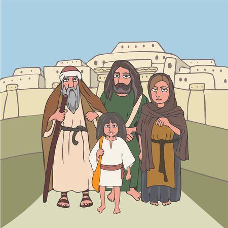 ancient pilgrims group cartoon