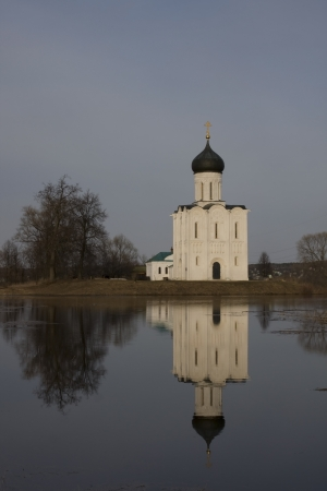 Church of Intercession upon Nerl River   Bogolubovo, Vladimir region, Golden Ring of Russia  photo