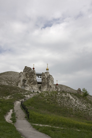 ascetic: Cave Monastery in Kostomarovo, Voronezh Region, Russia