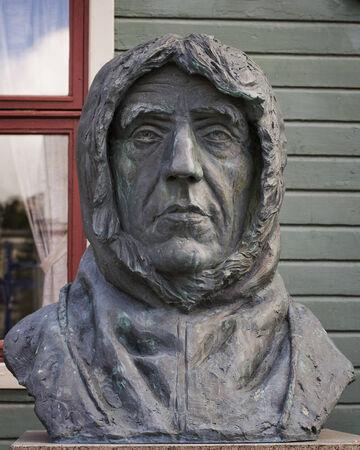 boffin: Roald Amundsen, a monument in  Tromso, Norway  Stock Photo