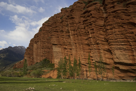 kirgizia: Red rocks in Djety Oguz, Kyrgyzstan. Stock Photo
