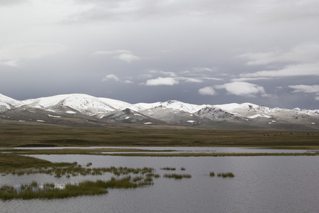 kirgizia: Tranquil landscape Lake Son-Kul, Kyrgyzstan.