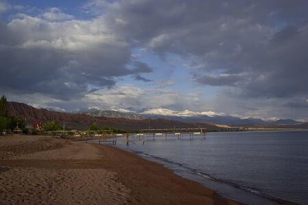 issyk kul: The shore of Lake Issyk-Kul, Kyrgyzstan.