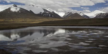 Barskoon valley in Kyrgyzstan, Tien Shan mountains. photo