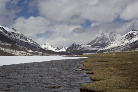 Barskoon valley in Kyrgyzstan, Tien Shan mountains. photo