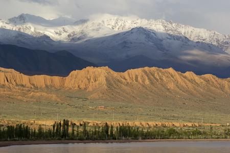 issyk kul: Issyk-Kul lake in Kyrgyzstan, central Asia.