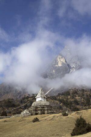 buddhist stupa: Buddhist stupa in Sagarmatha region, Himalaya, Nepal.