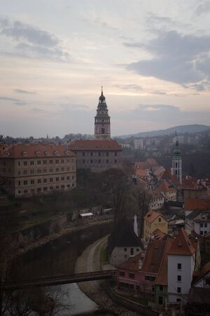 krumlov: Historical Center of Cesky Krumlov , Czech Republic (Unesco World Heritage). Editorial