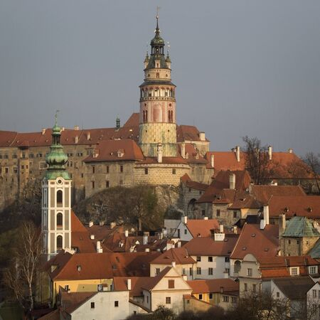 unesco in czech republic: Historical Center of Cesky Krumlov , Czech Republic (Unesco World Heritage). Editorial