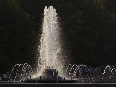 The fountain in the park. Stock Photo