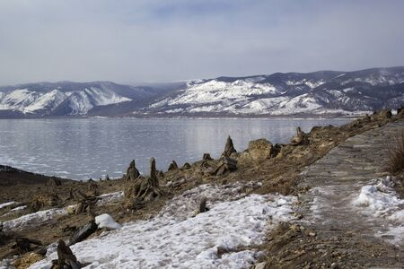 baical: Winter Baikal lake, Russia, Siberia Stock Photo