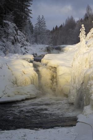 karelia: Kivach waterfall in the winter, Karelia, Northern Russia