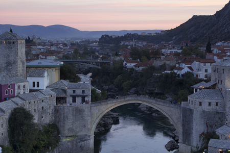 The old stone bridge. Mostar, Bosnia and Herzegovina.