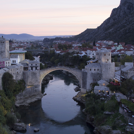The old stone bridge. Mostar, Bosnia and Herzegovina.
