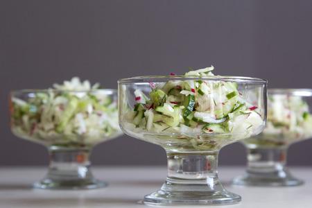 Fresh salad of radish and cucumber. Reklamní fotografie
