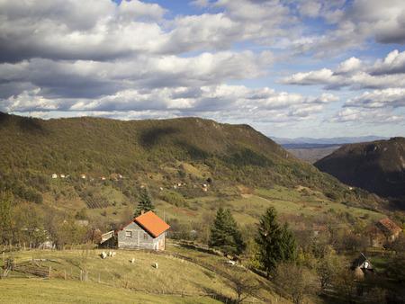 Rural landscape with clouds Reklamní fotografie