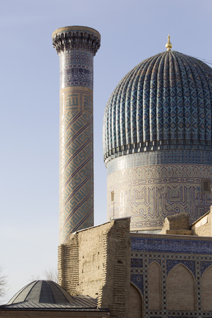 Fragment of Gur Emir mausoleum in Samarkand, Uzbekistan.