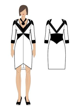 womenīŋŊs: Women s dress  Vector illustration  Illustration