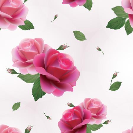 Elegant abstract naadloze bloemmotief met roze rozen Vector achtergrond Stock Illustratie