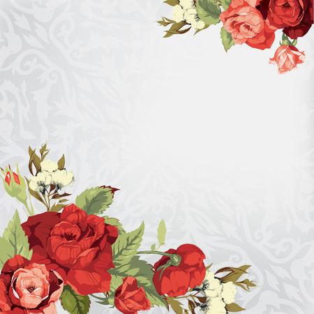 Mooie vector wenskaart Bright illustratie, kan worden gebruikt als het creëren kaart, uitnodigingskaart voor huwelijk, verjaardag en andere vakantie en leuke zomer achtergrond Stock Illustratie