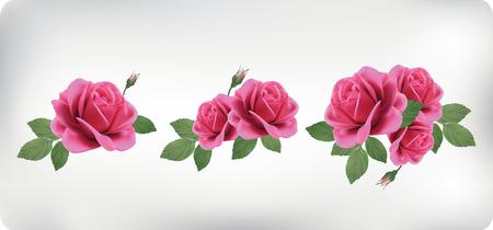 Set van boeketten van rozen