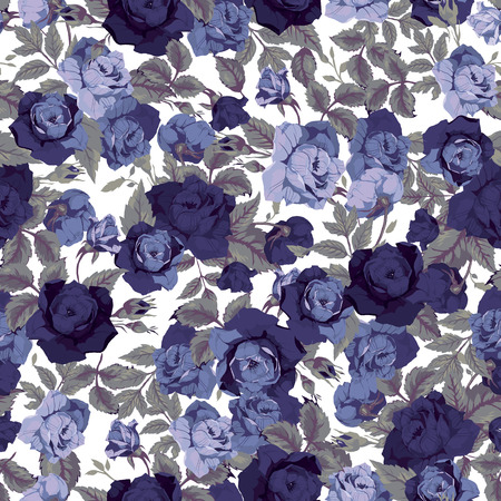 Seamless floral pattern with of roses 向量圖像