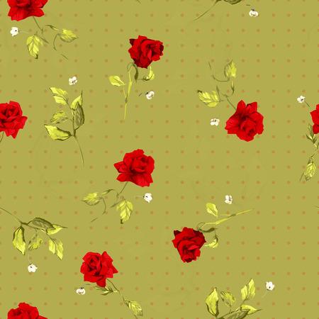 Naadloos bloemenpatroon met rode rozen Vector achtergrond