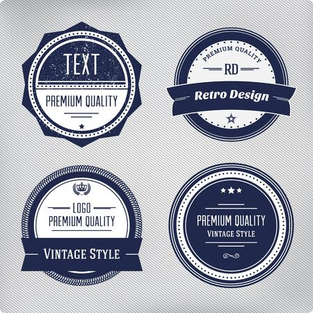 round logo: Retro logo elements set. Collection of vector vintage labels. Illustration